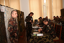 "Major Balasz Cseh during CPX, at ""Blonde Avalanche"" Multinational Exercise"